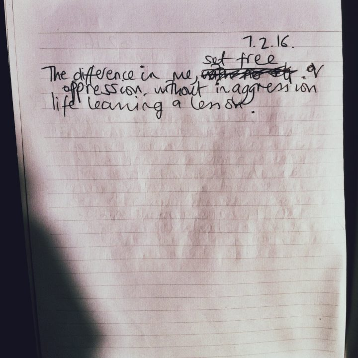 JOURNAL: The Difference In Me, Set Free